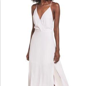 Lush Surplice Maxi Dress in Pale Lilac